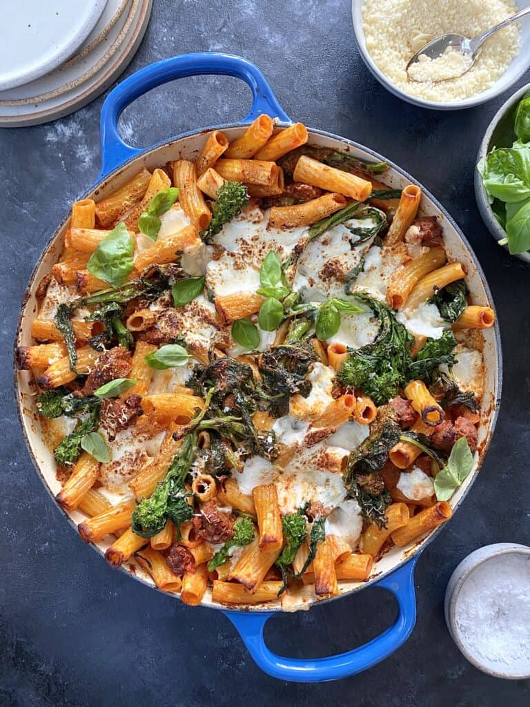 Baked Pasta with Sausage & Broccoli Rabe