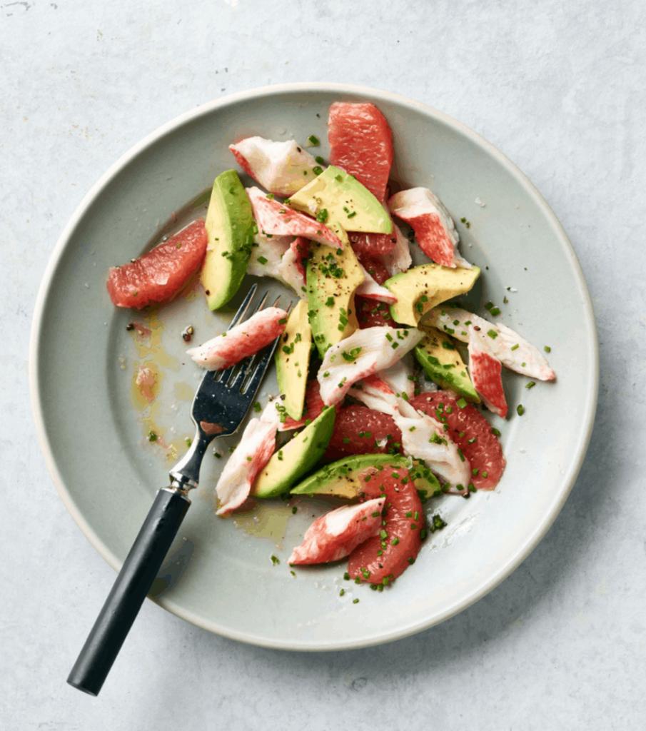 Krab, grapefruit & avocado salad